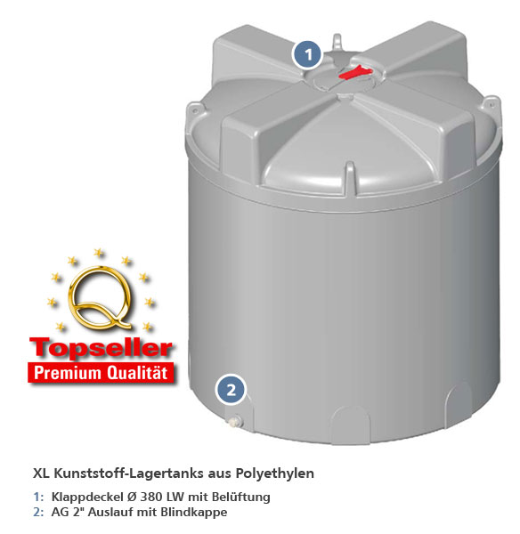 XL Lagertanks aus Polyethylen